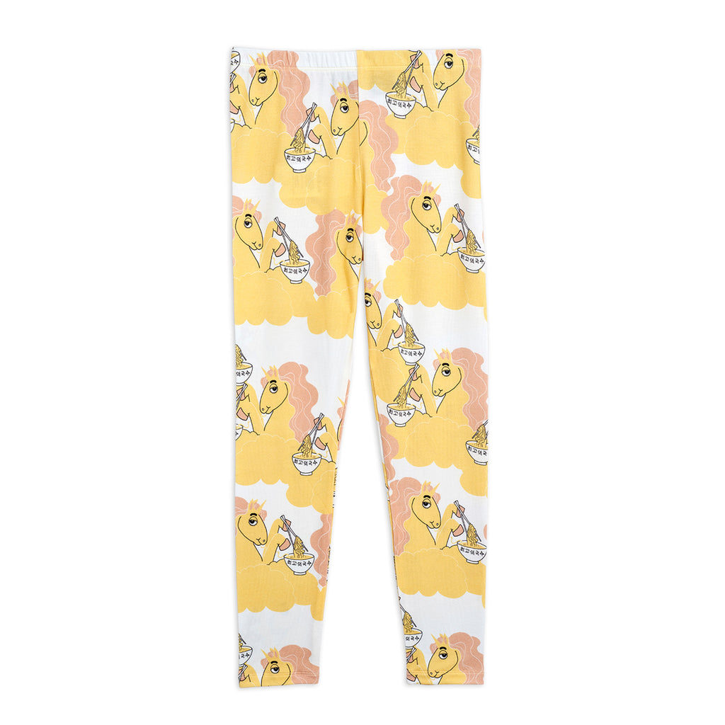 Yellow Unicorn Noodles Leggings by Mini Rodini - Petite Belle