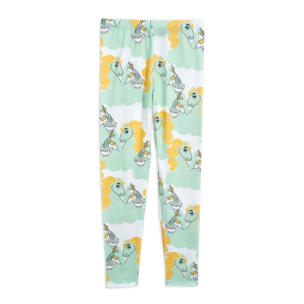 Green Unicorn Noodles Leggings by Mini Rodini - Petite Belle