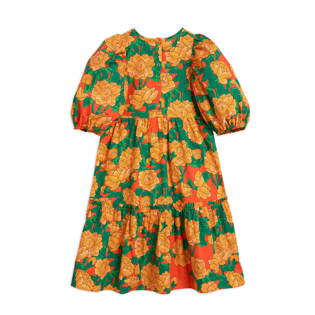 Peonies Woven Puff Sleeve Dress by Mini Rodini - Petite Belle