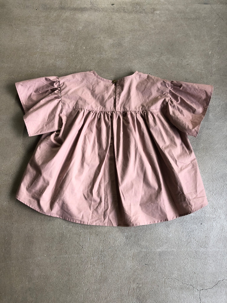 Pink Pleated Smock Blouse - Petite Belle