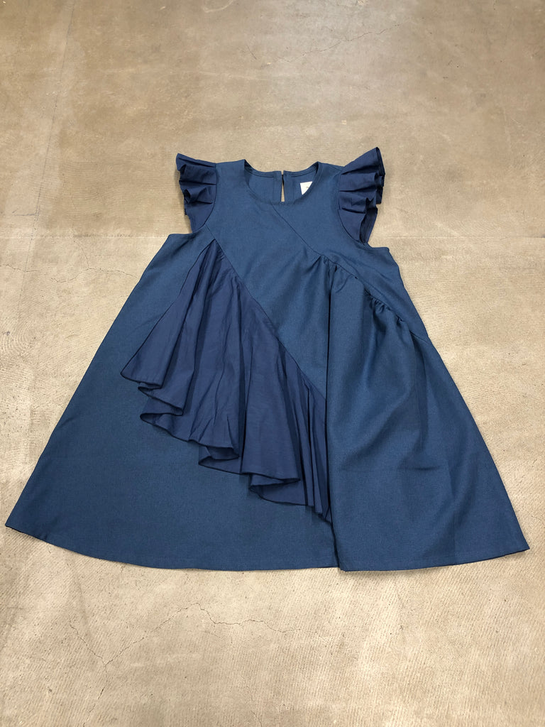 Blue Frill Dress - Petite Belle