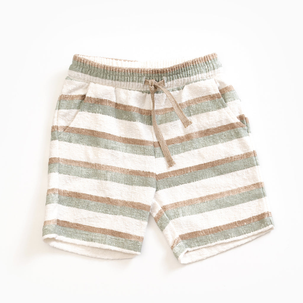 Stripes Terry Shorts - Petite Belle