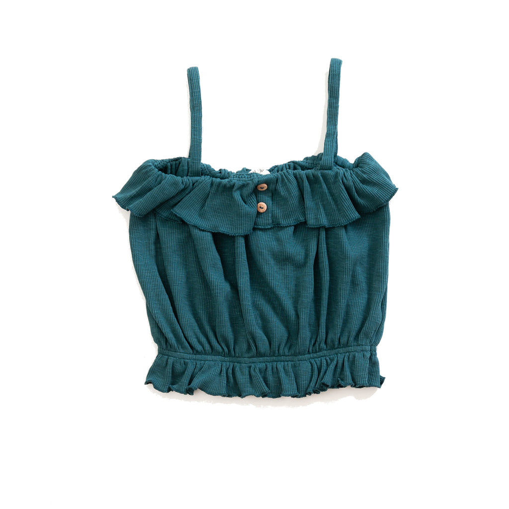 Sleeveless Top with Frills - Petite Belle
