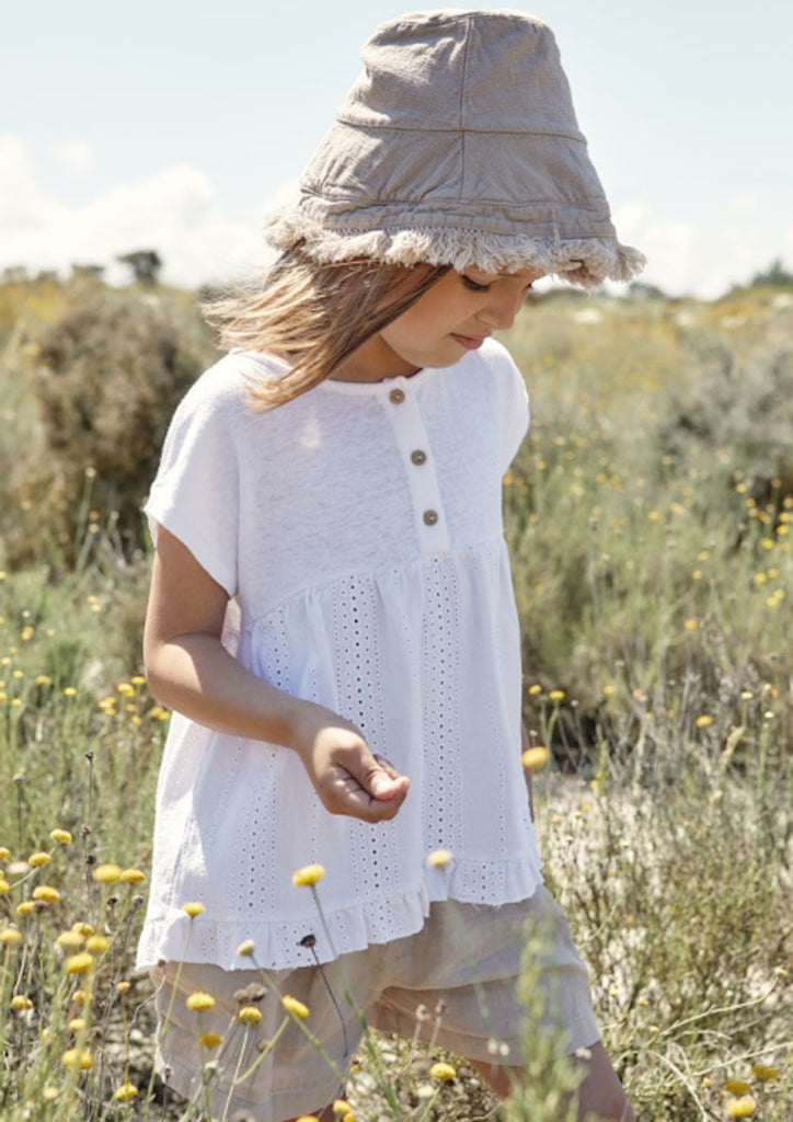 Tunic With English Stitching - Petite Belle