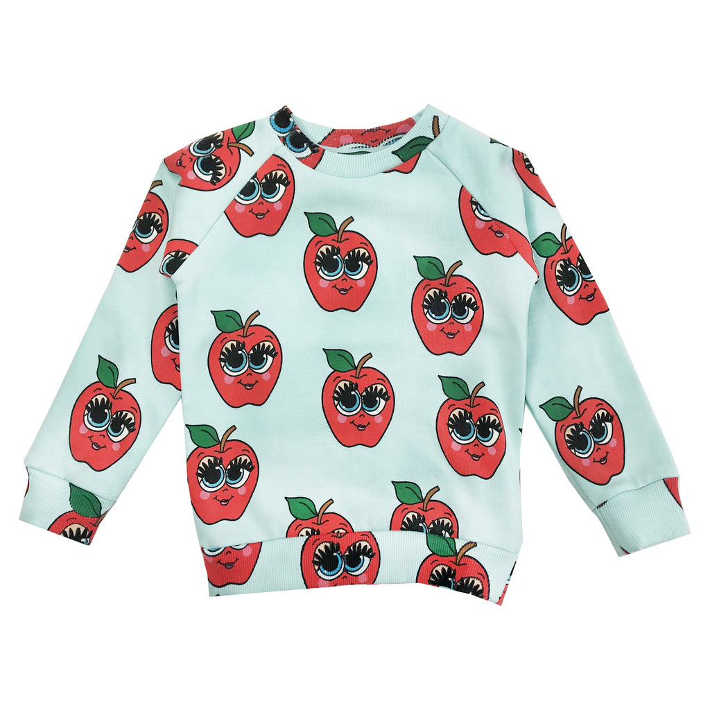 Blue Apples Sweatshirt by Hugo Loves Tiki - Petite Belle