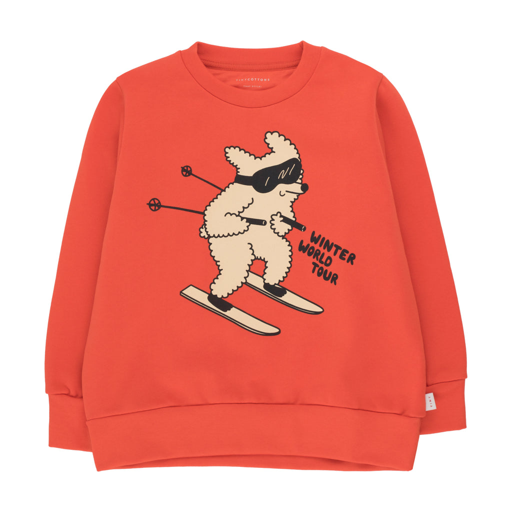 Skiing Dog Sweatshirt by Tinycottons - Petite Belle