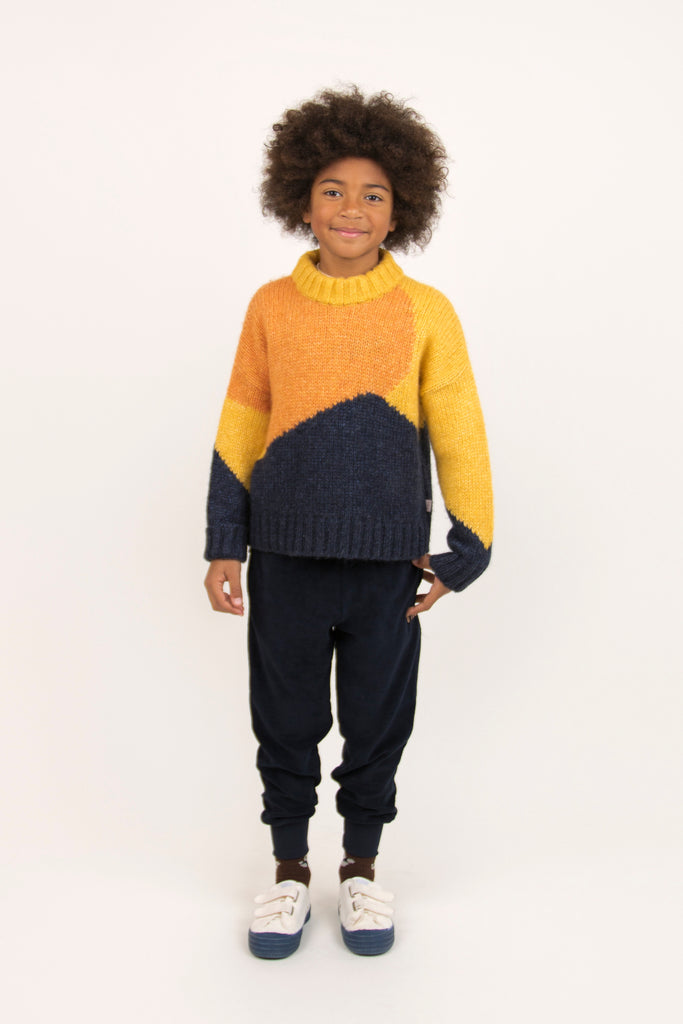 Fuji Colour Block Sweater by Tinycottons - Petite Belle