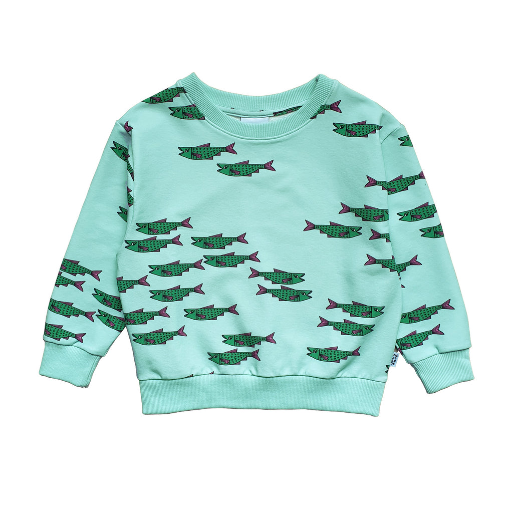 Blue Fish Sweater - Petite Belle