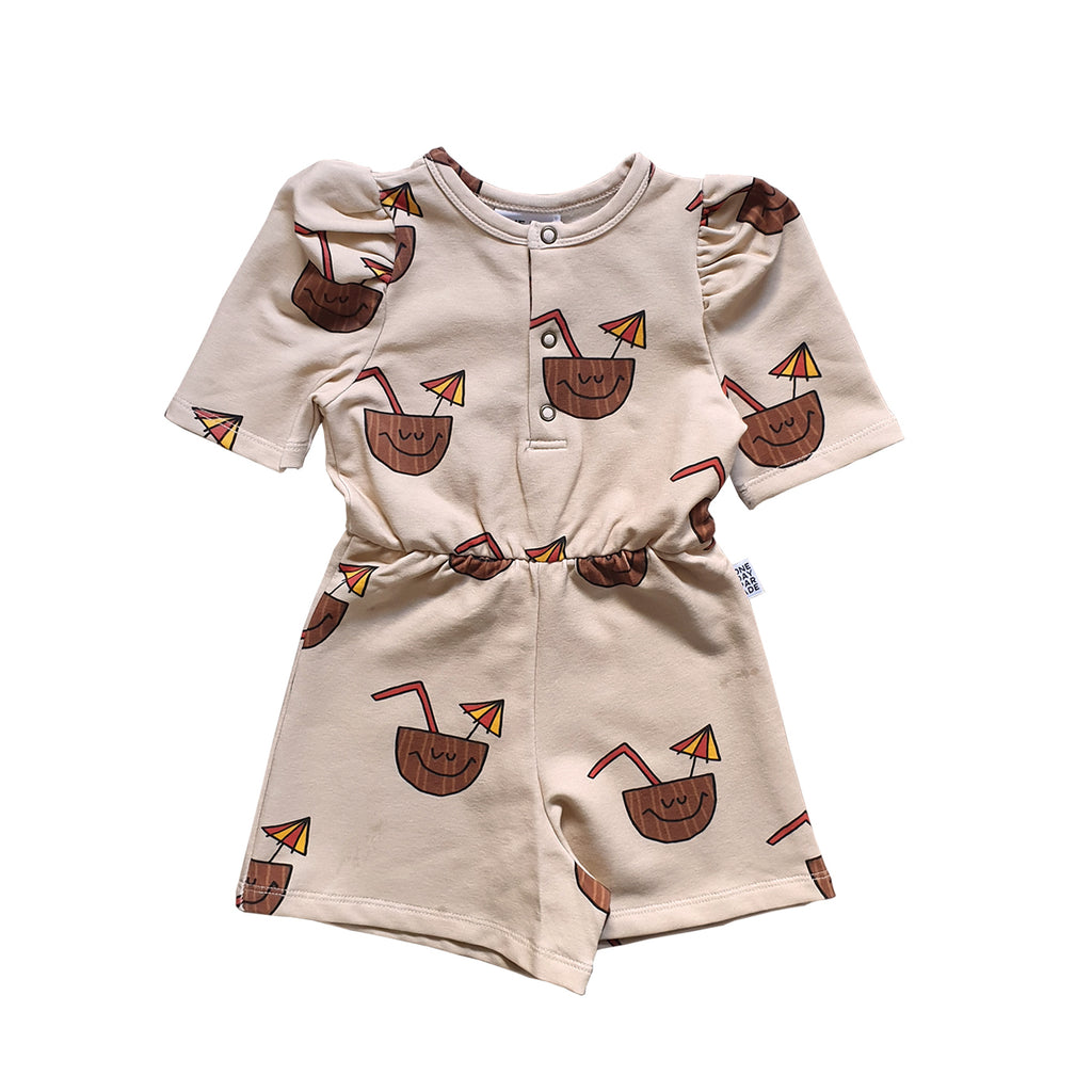 Coconut Puffed Playsuit - Petite Belle