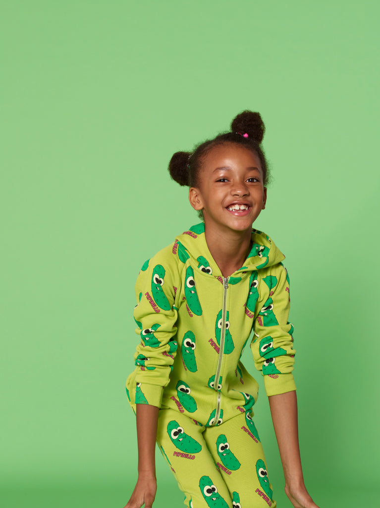 Green Pickles Hooded Jumpsuit by Hugo Loves Tiki - Petite Belle