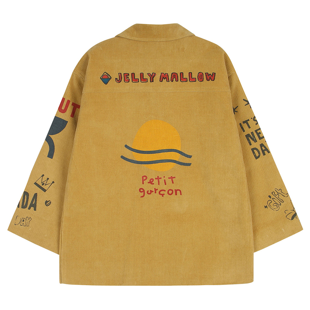 Printing Corduroy Jacket by Jelly Mallow - Petite Belle