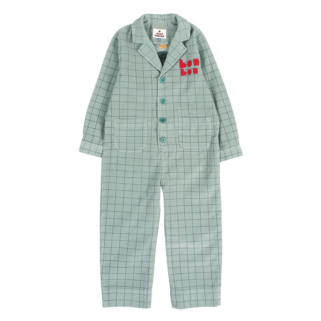Grid Corduroy Jumpsuit by Jelly Mallow - Petite Belle
