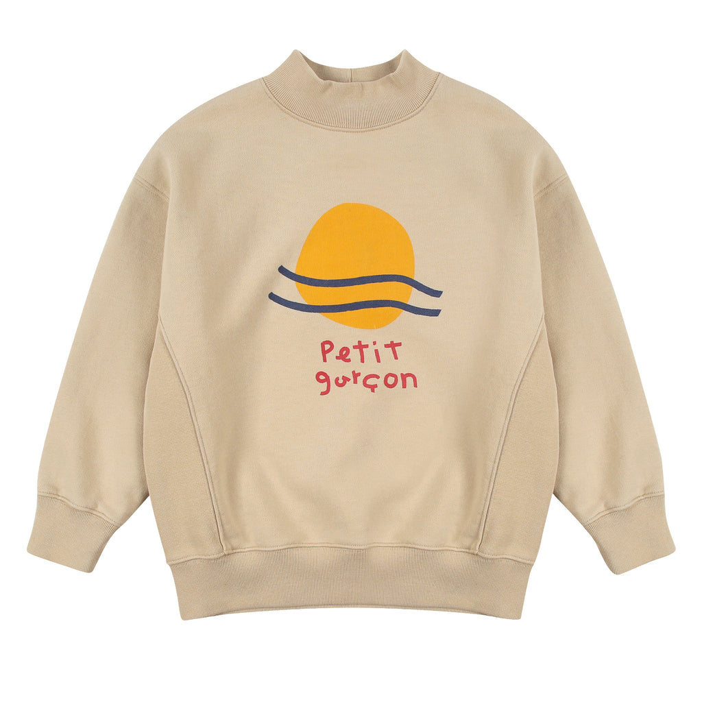 Petit Garcon Turtleneck Sweatshirt by Jelly Mallow - Petite Belle