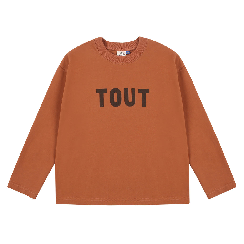 Brown Tout Long Sleeve Tee by Jelly Mallow - Petite Belle
