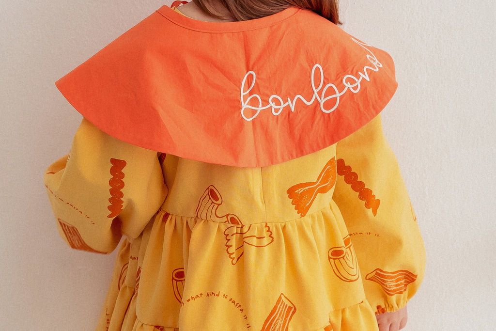 Pasta Dress with Cape by Bonbono - Petite Belle
