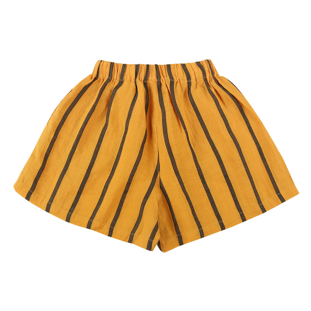 Yellow Stripes Linen Culottes - Petite Belle