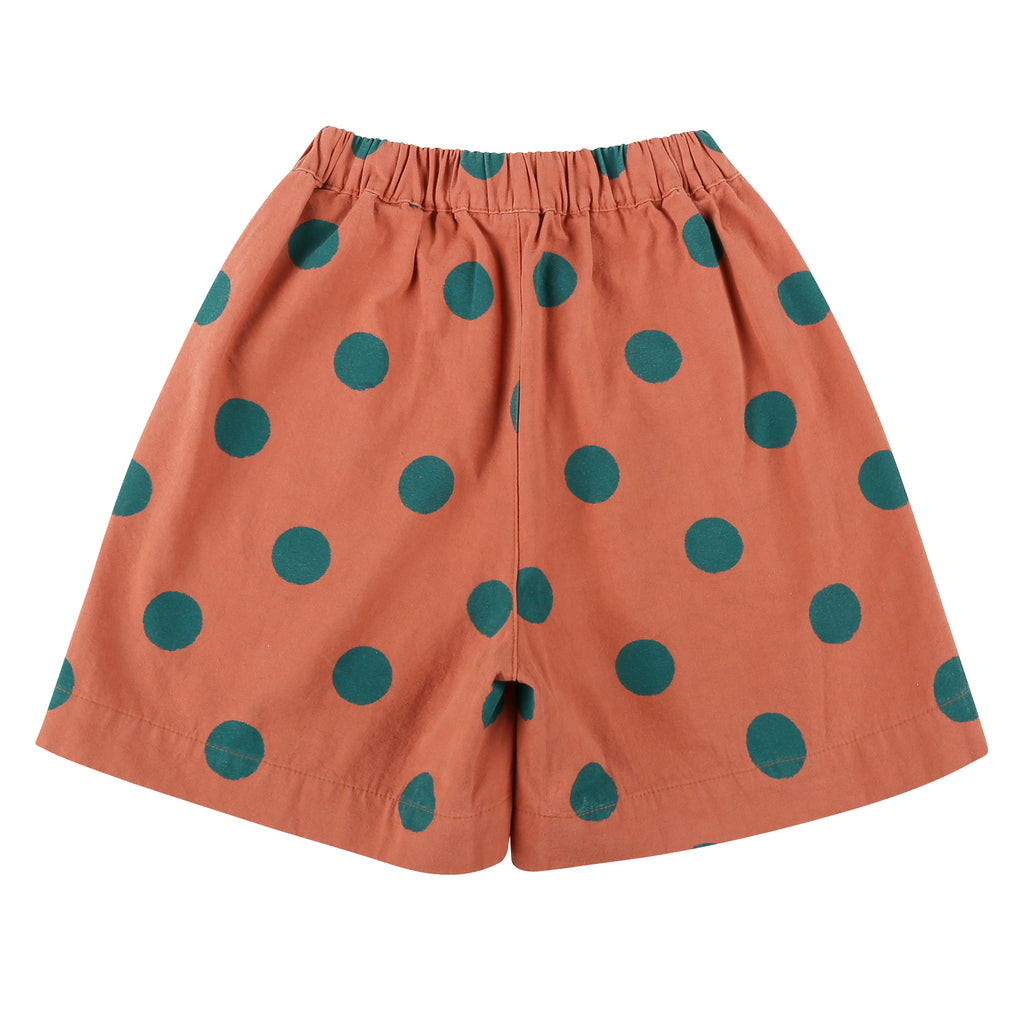 Green Dotted Cotton Shorts - Petite Belle