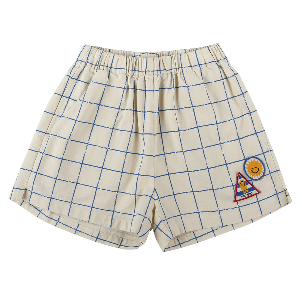 Grid Checked Track Shorts - Petite Belle