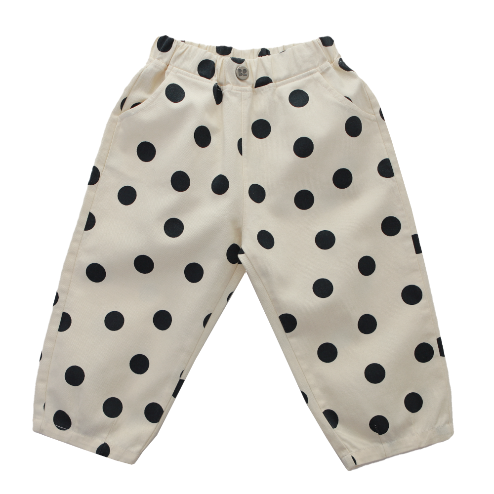 Black Dotted Pants by Bonbono - Petite Belle