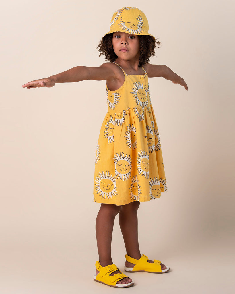Deep Soul Yellow Strap Dress - Petite Belle