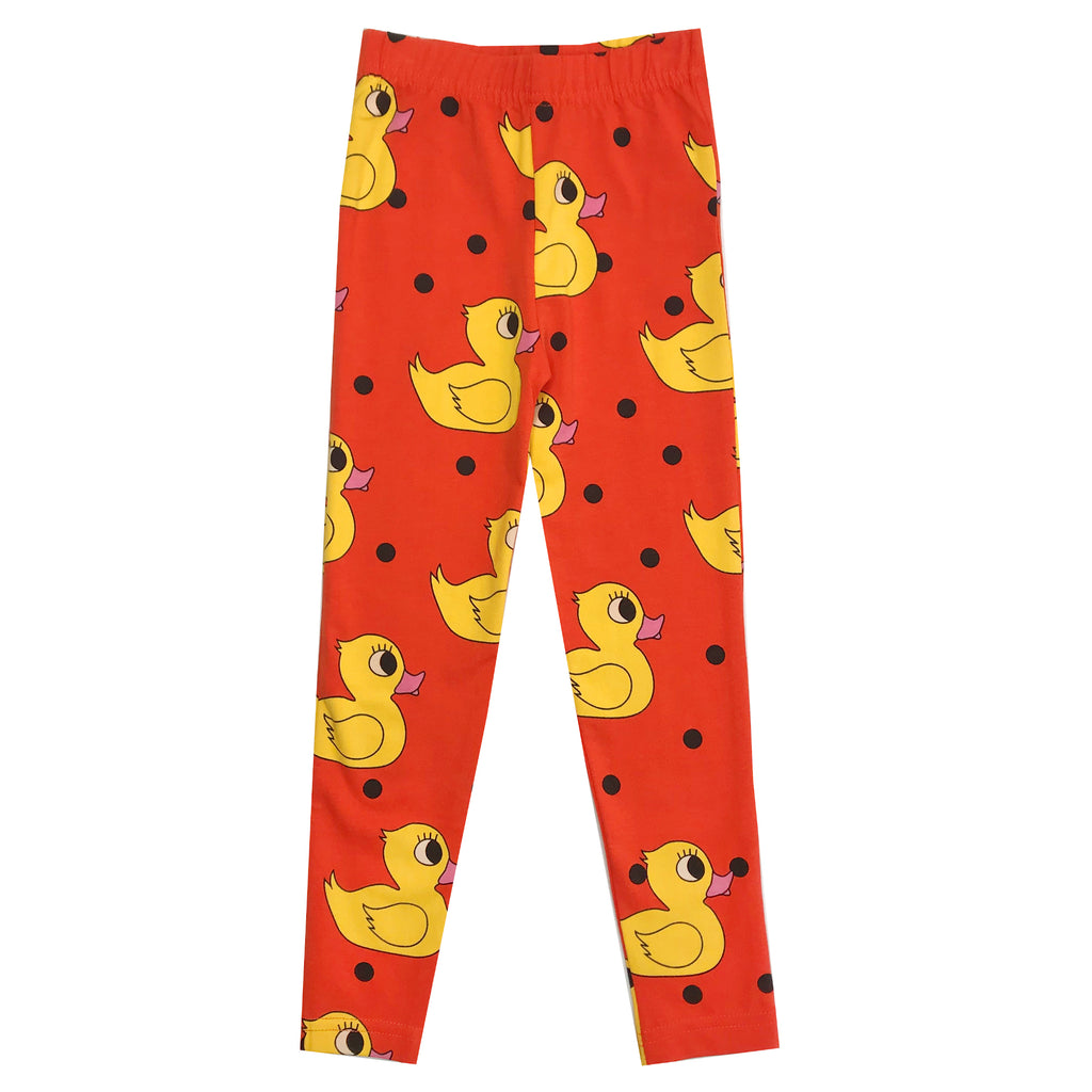 Orange Rubber Ducky Leggings by Hugo Loves Tiki - Petite Belle