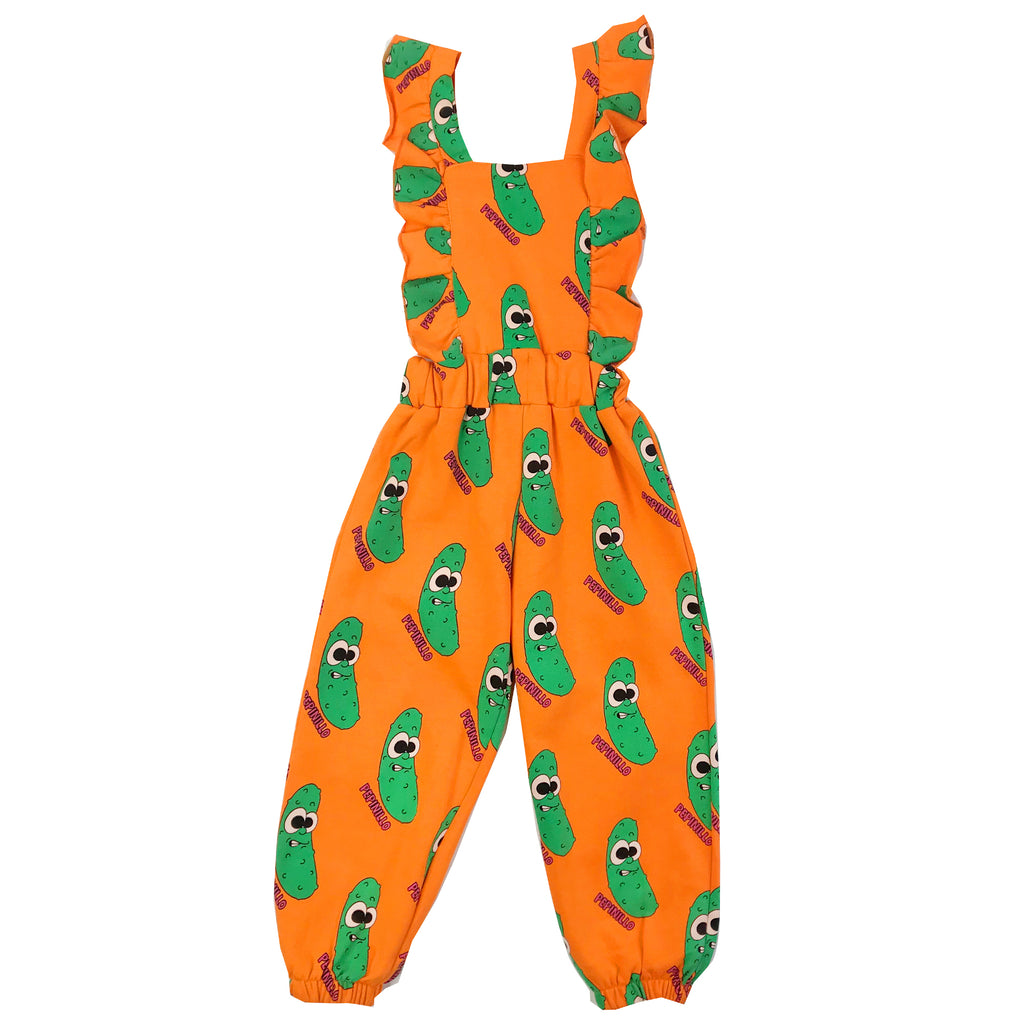 Orange Pickles Ruffle Jumpsuit by Hugo Loves Tiki - Petite Belle