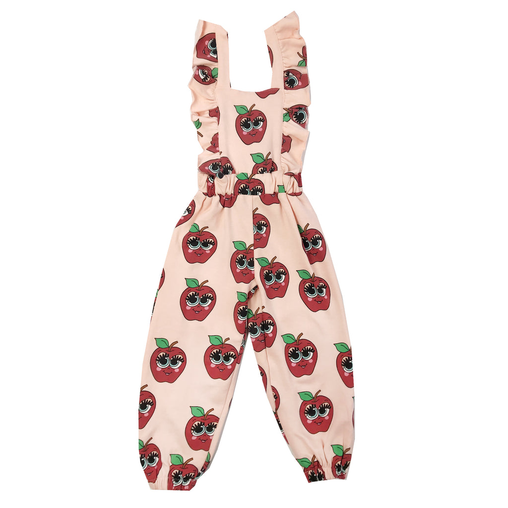 Pink Apples Ruffle Jumpsuit by Hugo Loves Tiki - Petite Belle