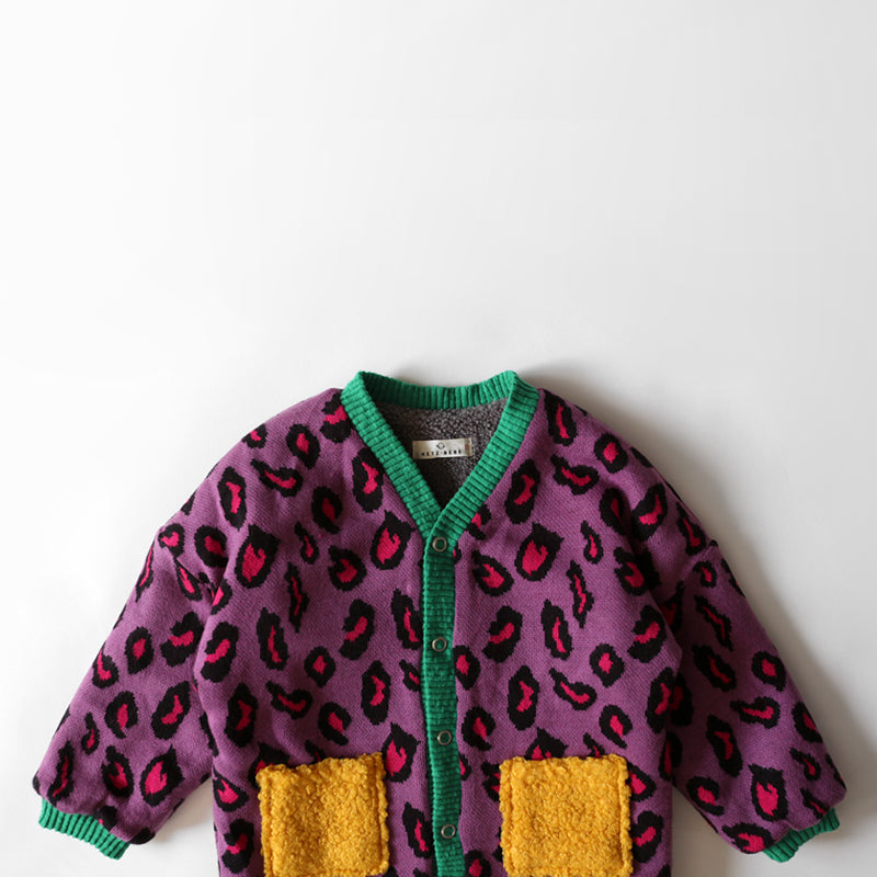 Purple Leopard Coat by Licomas - Petite Belle