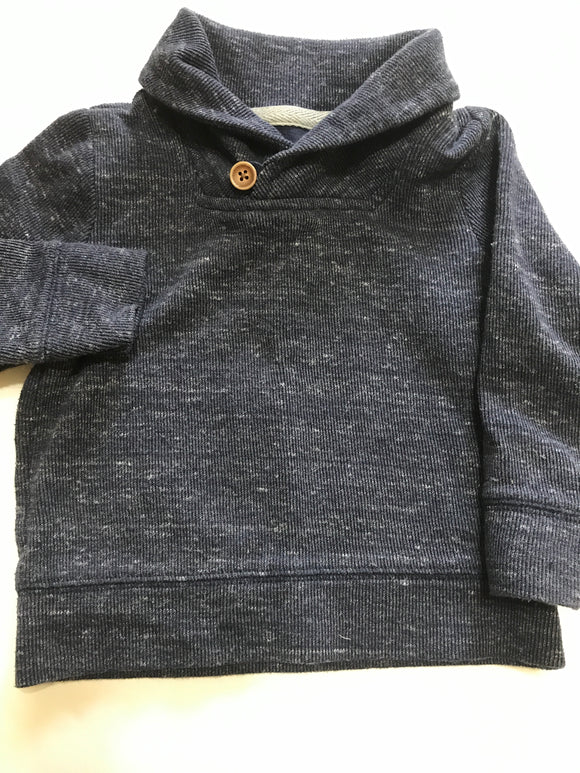 Size: 2T - Old Navy, Navy Blue Shawl Collared Sweater