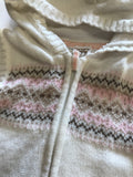 Size: 12 months - Carter's Cream and Soft Pink Winter Look Sweater Vest