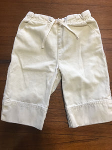 Size: 12-18 months - Soft Yellow Jean Clam Digger / Capri Pants from Baby Gap