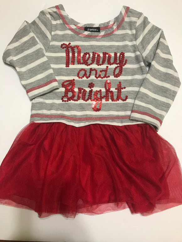 Size: 2 - Merry and Bright Christmas Dress