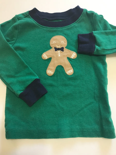 Size: 18-24 months - Gingerbread Man Long Sleeved Cotton Shirt by Gymboree