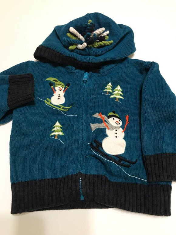 Size: 3-6 months - Gymboree Sledding Snowman Sweater