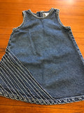 Size: 12-18 months - Frilled Denim Vest Style Dress from Baby Gap