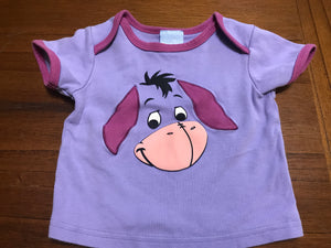 Size: 12-18 months - Thick Cotton Purple Eeyore Tee