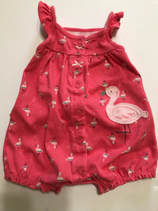 Size: 3-6 months - Pink Flamingo Romper / Onesie from Child of Mine by Carter's