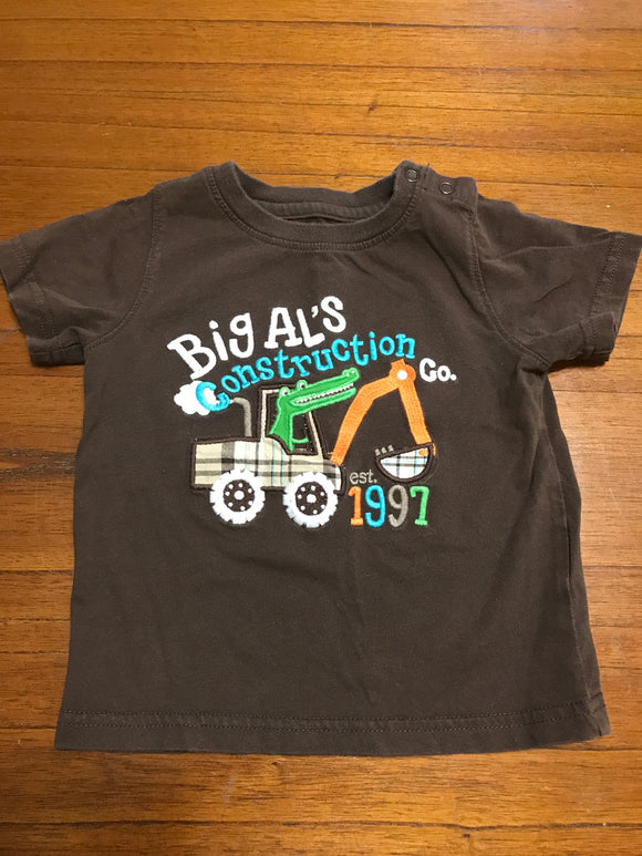 Size: 24 months - Big Al's Construction T-Shirt from Carter's