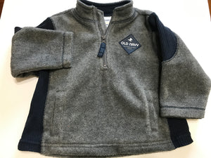 Size: 6-12 months - Grey and Blue Old Navy Fleece Pullover