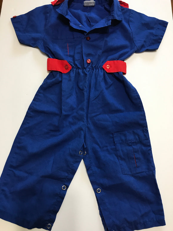 Size: 18 months - One Piece Blue and Red Romper