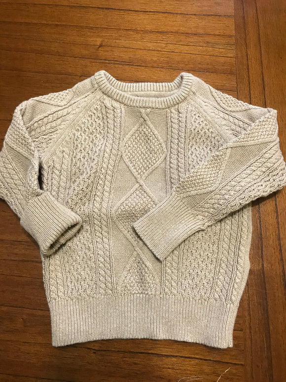 Size: 3 - Tan Cable Knit Sweater from Nevada
