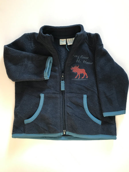 Size: 3-6 months - Hang Loose Mr Moose Navy Fleece