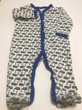 Size: 6-9 months - Nautica Whale Print Footie Pajama / Jumper
