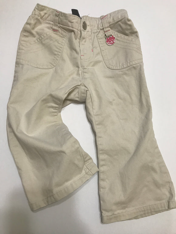 Size: 18-24 months - Baby Gap Light Colored Khaki Pant with Cat Charm