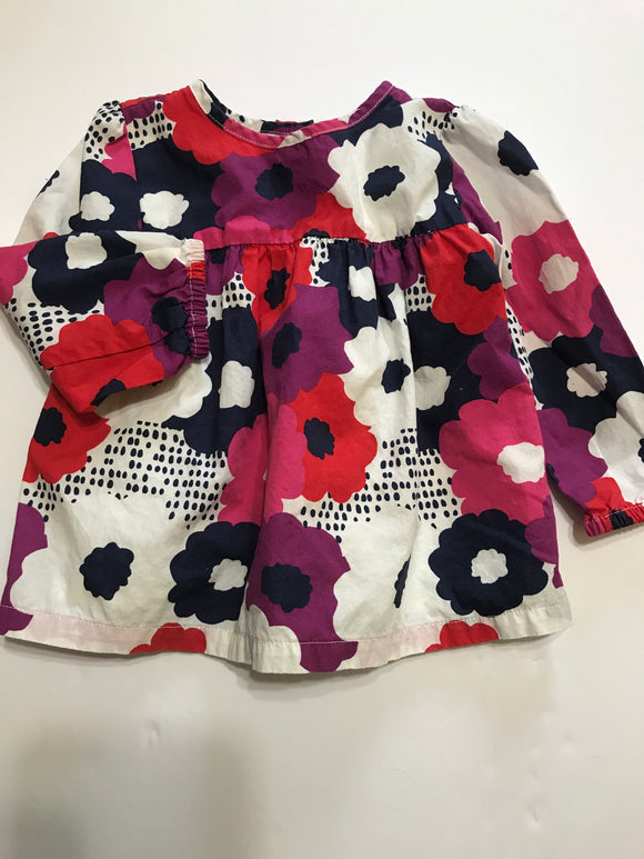 Size: 12-18 months - Gymboree Flowing Flower Dress Shirt
