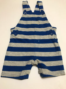 Size: 18-24 months - Blue and Grey Striped Short Overalls