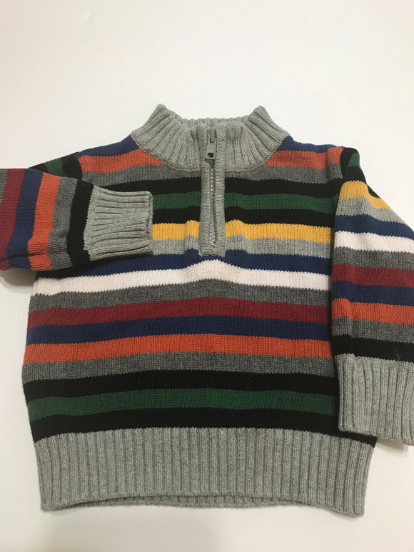 Size: 3-6 months - Classic Colorful Striped Knit Sweater from Gymboree