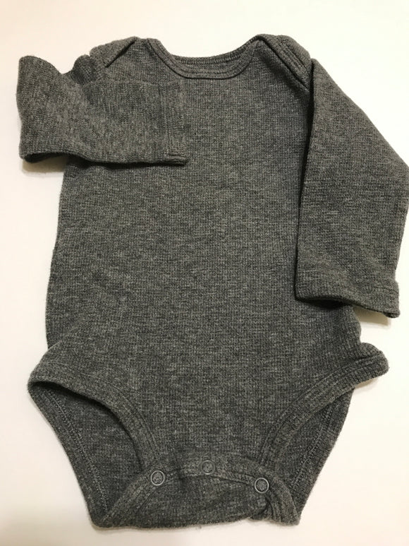 Size: 12 months - Grey Thermal Onesie from Carters