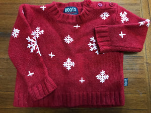 Size: 3-6 months - Roots Wool Snowflake Sweater
