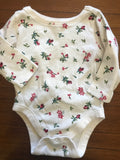 Size: 0-3 months - Cream Colored Onesie with Roses from Old Navy